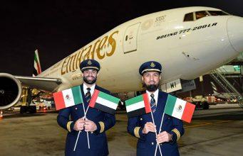 Emirates inaugura su vuelo desde Dubai a México con una escala en el Aeropuerto de Barcelona