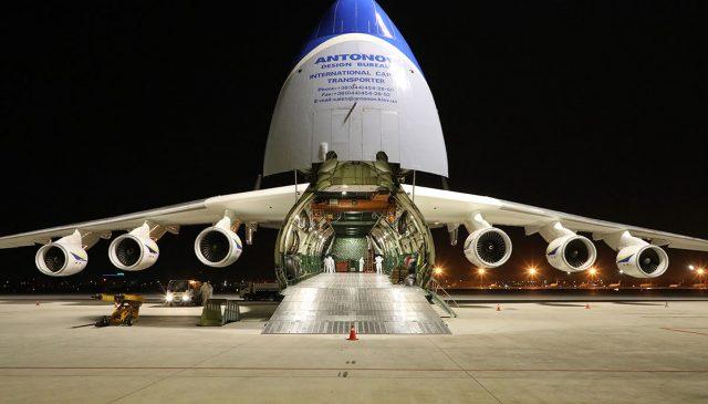 An-225 Mriya transportó récord de carga médica