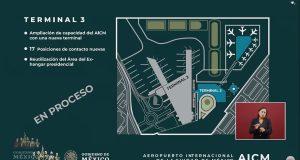 Cancela SCT construcción de T3 en AICM